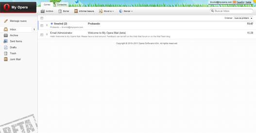 MyOpera Email