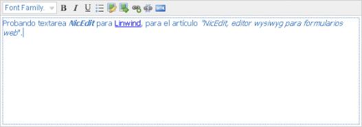 NicEdit formularios web