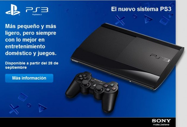 Sony presenta su nueva Playstation 3, la PS3 super slim