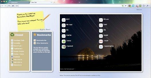 Pagina de inicio mejorada para Chrome