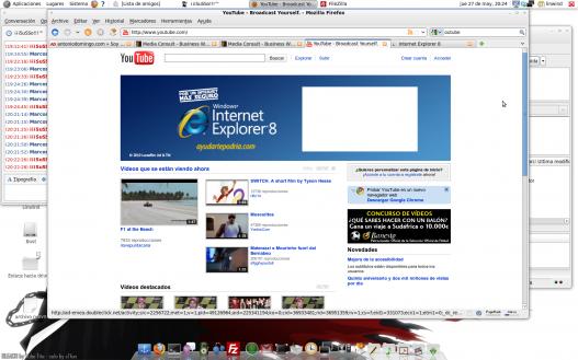 Youtube anunciando IE8
