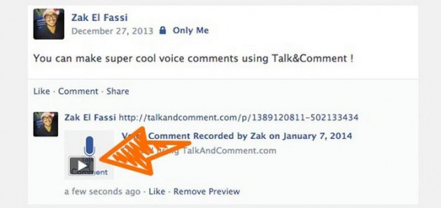 Push y Talk en Facebook