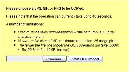 Reconocimiento OCR en Google Docs
