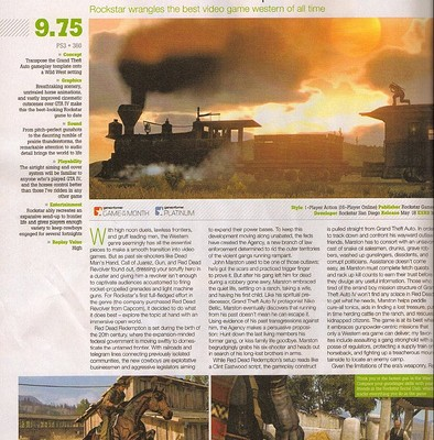 9.75 a Red Dead Redemption desde GameInformer