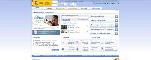 Redtrabaja, Ministerio de Trabajo e Inmigración de España