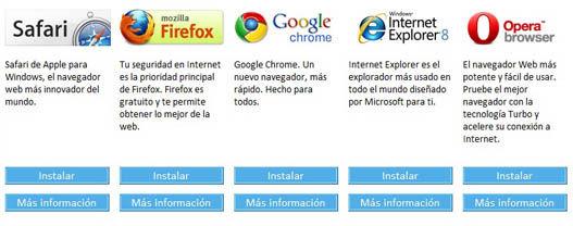 Selecciona tu navegador