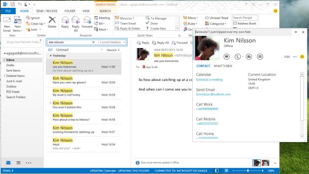 Skype se integra con Outlook