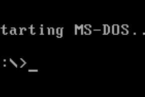 Starting MS-DOS