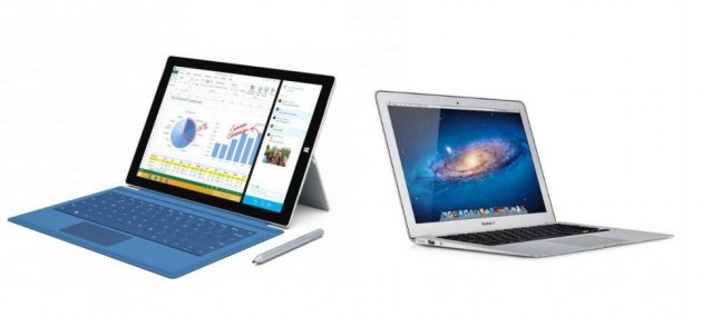 Surface Pro 3 vs Macbook Air 13