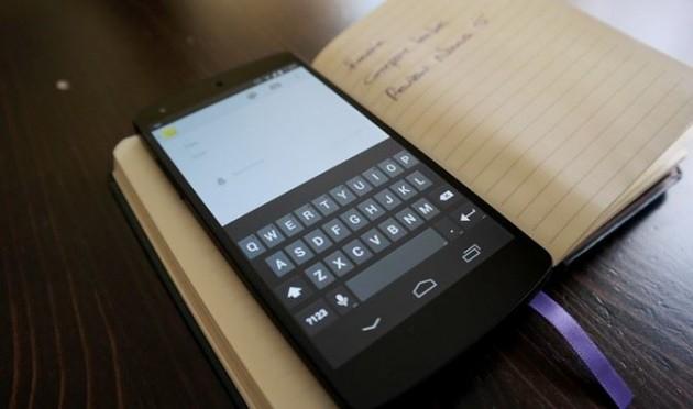 Teclado de un Nexus 5