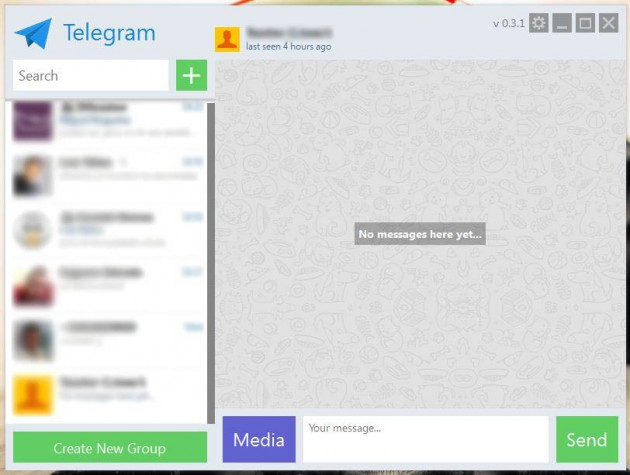 Telegram cliente de Windows