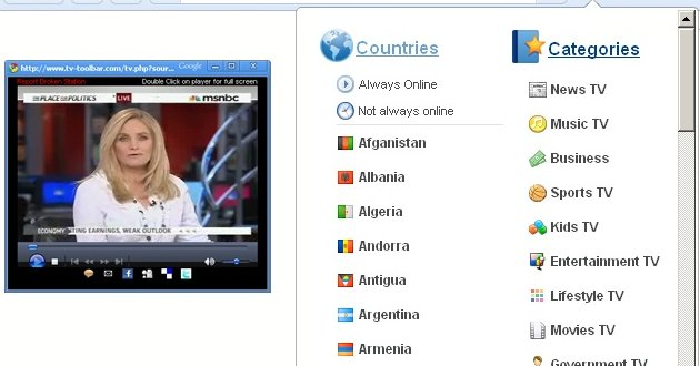 Television extension chrome