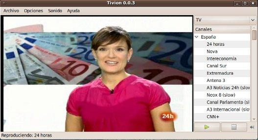 Tivion, ver TV online en Linux