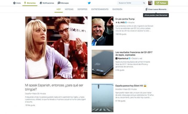 Twitter Momentos llega a Espana