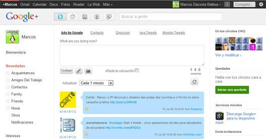 Twitter en Google Plus