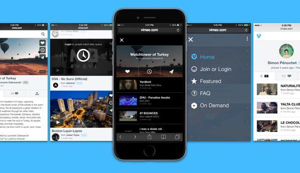 Vimeo para móviles