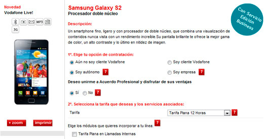Vodafone sin stock de Samsung Galaxy SII