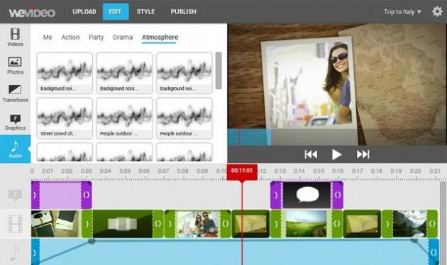 WeVideo, editor de vídeo profesional online