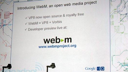 Google anuncia el formato de vídeo abierto WebM