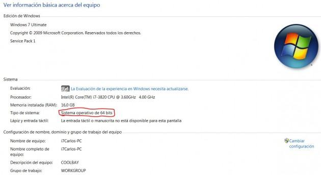Windows 7 de 64 bits