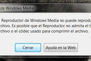Windows Media Player no puede reproducir