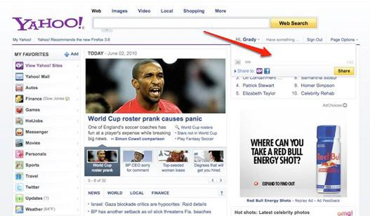 Yahoo se integra con Facebook