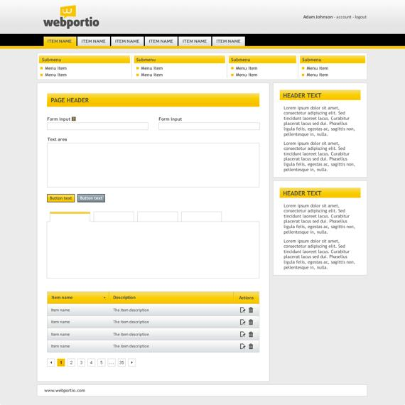 Yellow Admin Theme