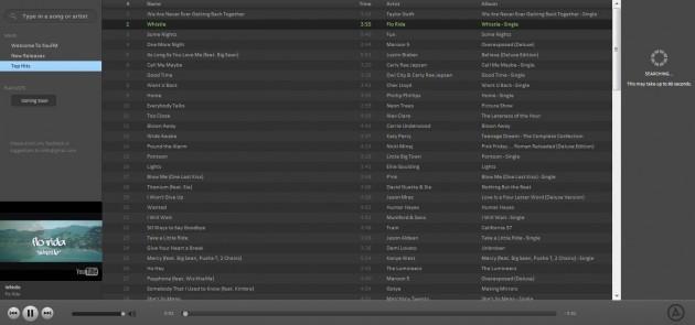 YouFM - Reproductor online con la apariencia de Spotify