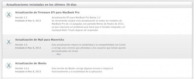 actualizacion macbook pro retina