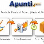 Apunti, envía mensajes de email al futuro.