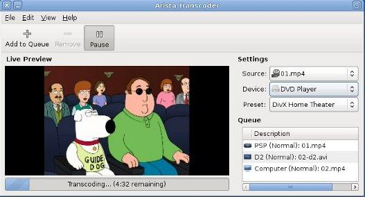 Arista – Convertir vídeos facilmente en Linux.