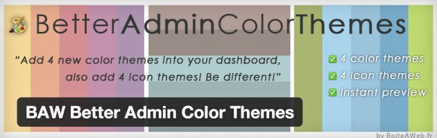 better admin color theme