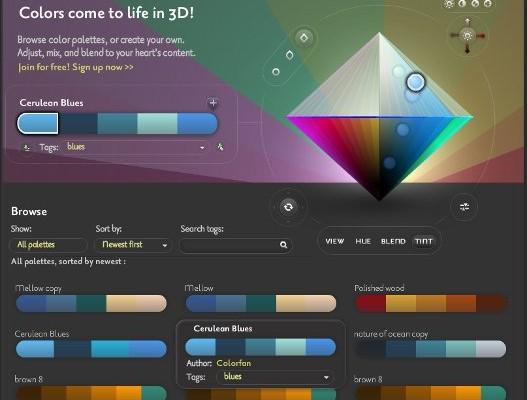 Crear paleta de colores en un rombo 3D