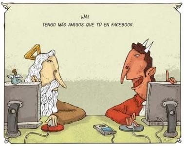 dios y demonio en FB