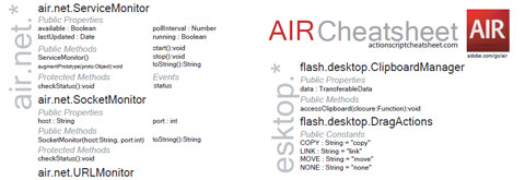 Hoja de trucos de Adobe AIR