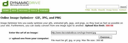 Optimizador de imágenes en linea. (Comprimir)