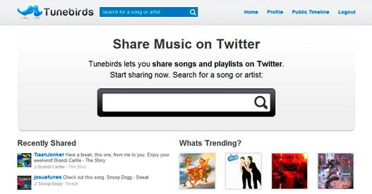 Escucha y comparte musica en twitter