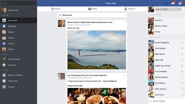facebook para Windows 8.1