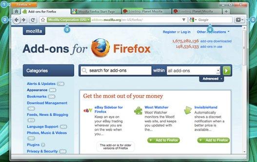 Actualización en la maqueta de Firefox 4