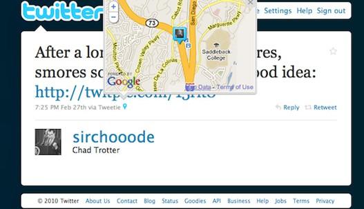 geolocalización twitter y facebook