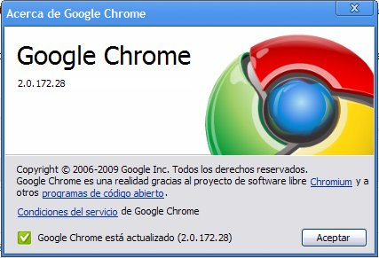 Google Chrome se hace mayor, ya es 2.0