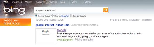 Bing y Yahoo saben quién es el mejor buscador