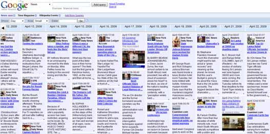 Google News Timeline – Las noticias en una linea de tiempo.