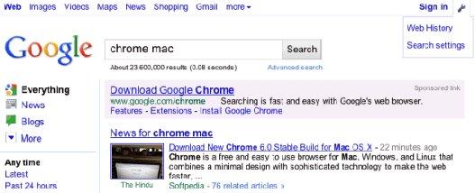Barra navegación Google