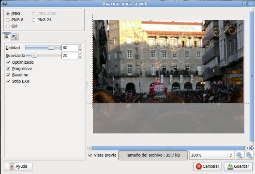 Optimizar imagen para publicar en una Web