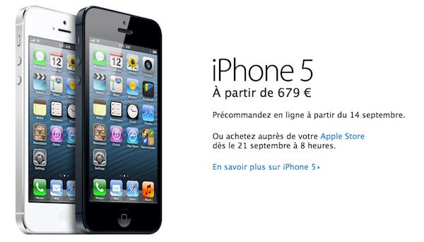 Detalles oficiales del iPhone 5