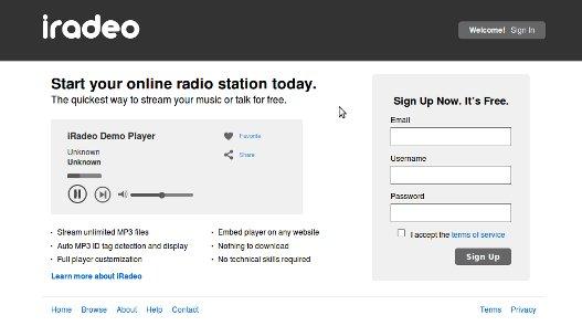 iRadeo, crear radio en linea