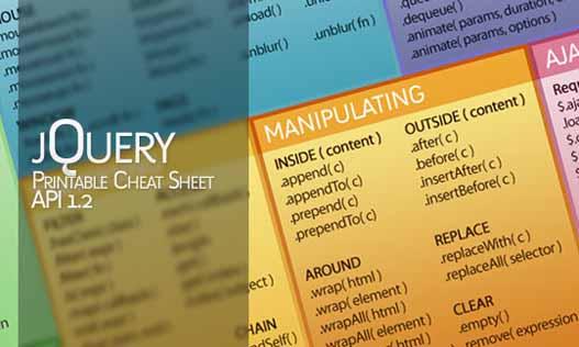 jQuery Cheat Sheet – Hojas de ayuda para jQuery