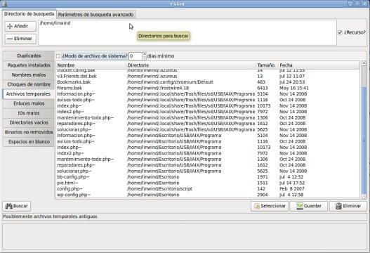 FSlint – Limpia y organiza tu Linux
