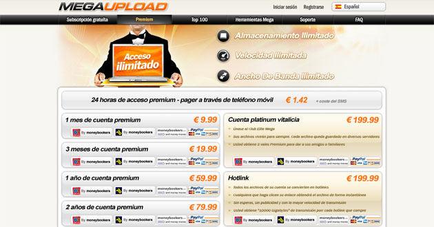 megaupload premium